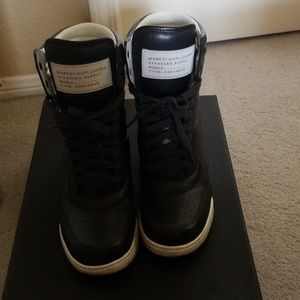 Marc by Marc Jacob's navy hidden wedge sneakers 38